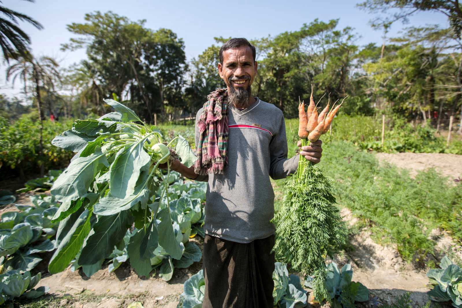 Picture: Participating farmer in the project: The Salt Solution- Bangladesh